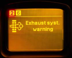 Exhaust syst. warning
